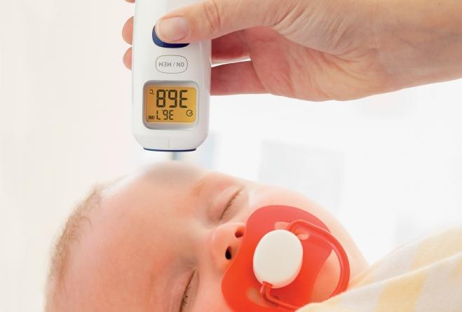 temperatuur van de baby