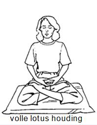 Lotus houding voor mediteren