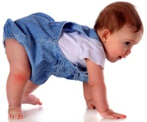 Motorische ontwikkelingen van een baby